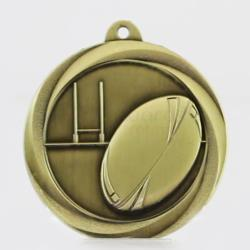 Econo Rugby Medal 50mm Gold