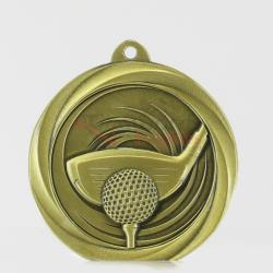 Econo Golf Medal 50mm Gold