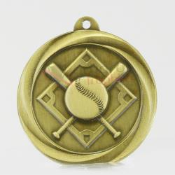 Econo Baseball Medal 50mm Gold