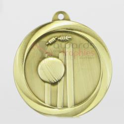 Econo Cricket Medal 50mm Gold