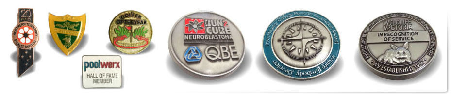 Custom Cast Medals Coins & Pins