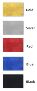 Custom Printed Ribbons Foil Colour Guide