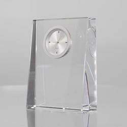 Rikaro Optical Crystal Wedge Clock 100mm
