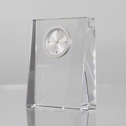 Rikaro Optical Crystal Wedge Clock 100mm