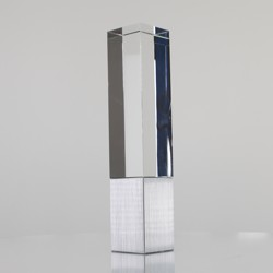 Crystal & Metal Pillar 250mm