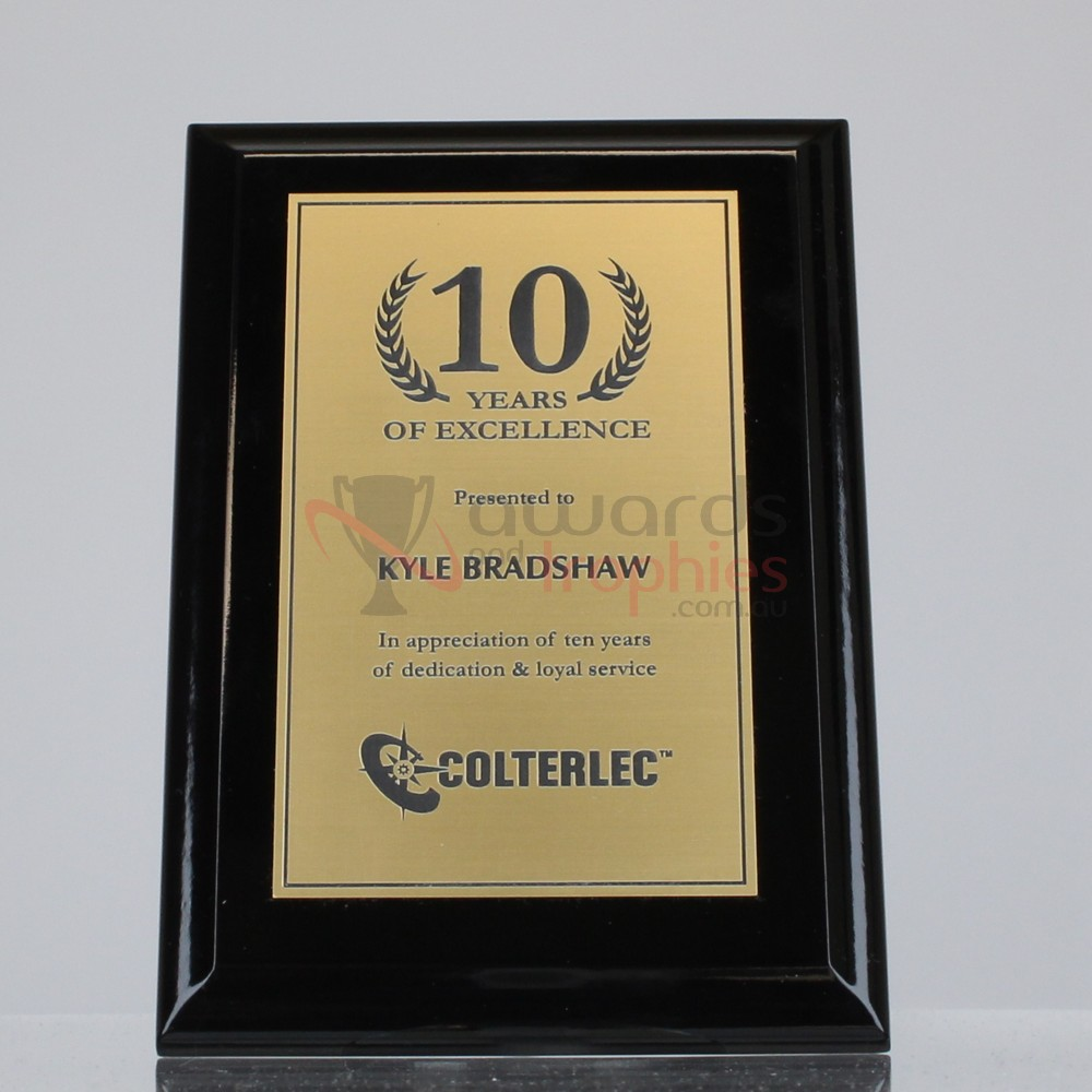 Super Gloss Black Plaque - Gold