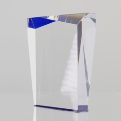 Acrylic Prism Blue 125mm