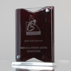 Glass, Chrome & Timber Freestanding Award