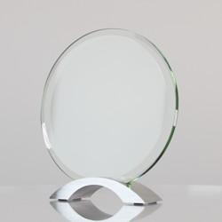 Glass & Chrome Circle 180mm