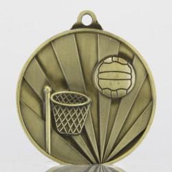 Sunrise Netball Medal 70mm Gold