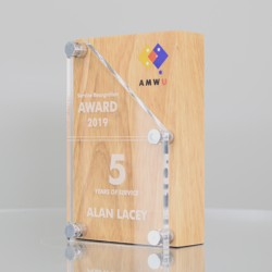 Anchor- Custom Timber & Acrylic Block Award: Small
