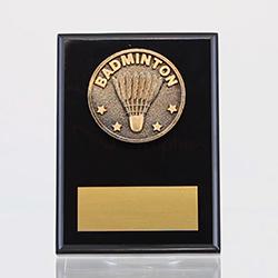 Spartan Badminton Black Plaque 150mm
