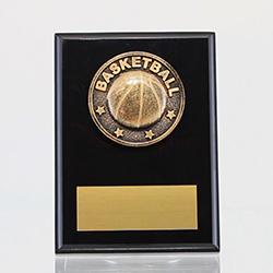 Spartan Basketball Black Plaque 150mm
