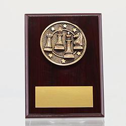 Spartan Chess Mahogany Plaque 150mm