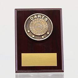 Spartan Darts Mahogany Plaque 150mm