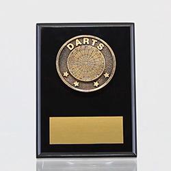 Spartan Darts Black Plaque 150mm