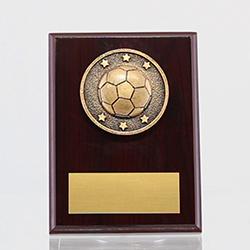 Spartan Soccer Mahogany Plaque 150mm