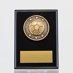 Spartan Soccer Black Plaque 150mm