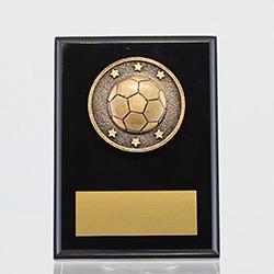 Spartan Soccer Black Plaque 150mm