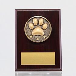 Spartan Pet Mahogany Plaque 150mm