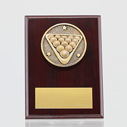 Spartan Billiards/Snooker Mahogany Plaque 150mm