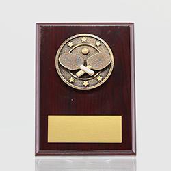 Spartan Table Tennis Mahogany Plaque 150mm