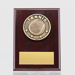 Spartan Tennis Mahogany Plaque 150mm