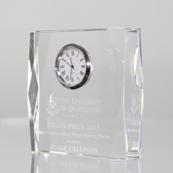 Crystal Rectangle Clock