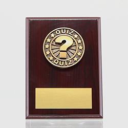 Quiz Mahogany Plaque 150mm