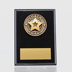 Coach Award Black Plaque 150mm