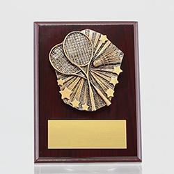 Cosmos Badminton Mahogany Plaque 150mm