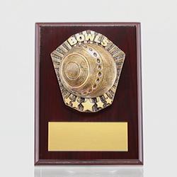 Cosmos Bowls Mahogany Plaque 150mm