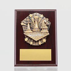 Cosmos Chess Mahogany Plaque 150mm