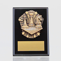 Cosmos Chess Black Plaque 150mm