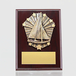 Cosmos Sailing Mahogany Plaque 150mm