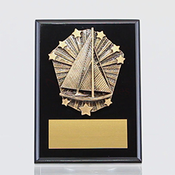 Cosmos Sailing Black Plaque 150mm
