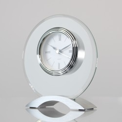 Glass & Chrome Clock
