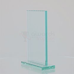 Jade Glass Rectangle Stand 175mm