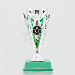 Star Flash Cup Silver/Green 180mm