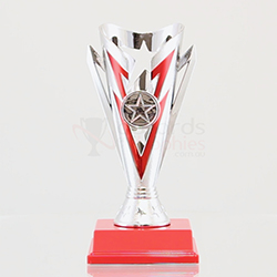 Star Flash Cup Silver/Red 180mm