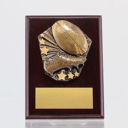 Cosmos Rugby Mahogany Plaque 150mm