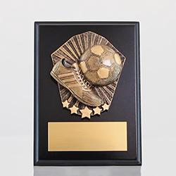 Cosmos Soccer Black Plaque 175mm