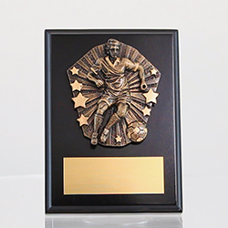 Cosmos Soccer Male Black Plaque 175mm