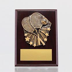Cosmos Tennis Mahogany Plaque 150mm
