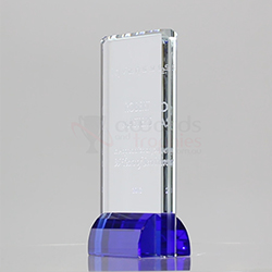 Blue Crystal Rectangle 180mm
