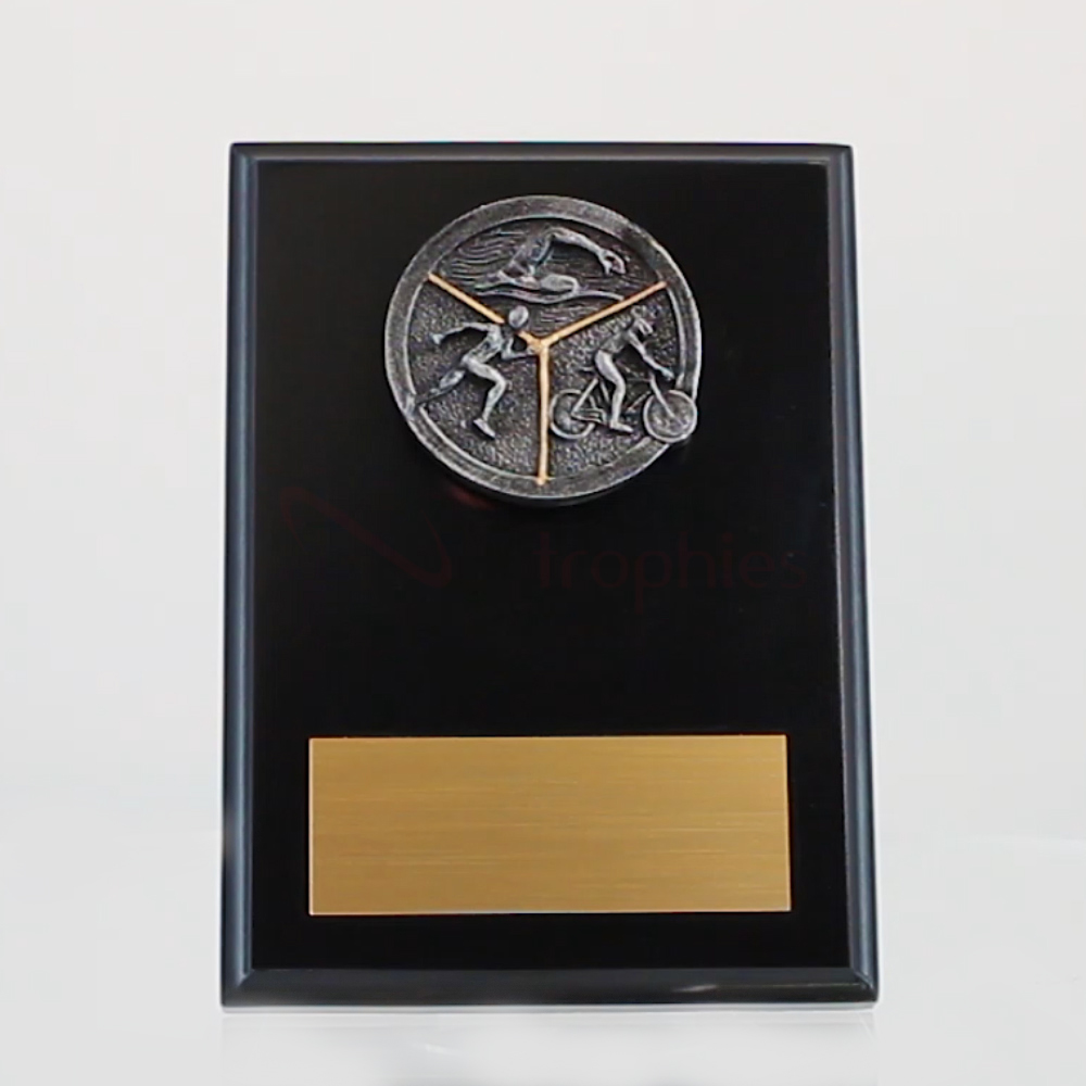 Triathlon Black Plaque 150mm