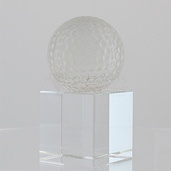 Spinning golf ball by Rikaro Crystal 100mm