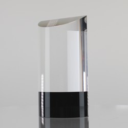 Black and Clear Wedge 200mm