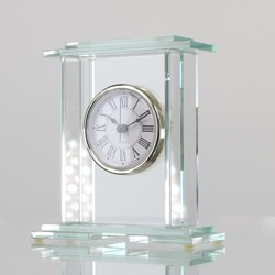 Glass Column Clock 140mm