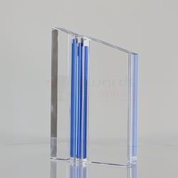 Triple Blue Stripe Crystal 190mm
